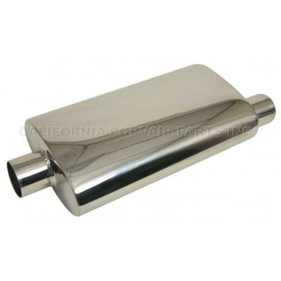 NEW POLISHED STAINLESS MUFFLER